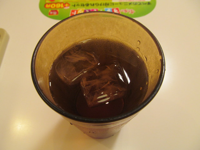 すき家の冷たいお茶20170315朝