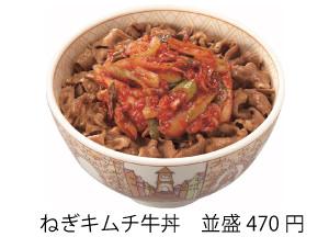 すき家ねぎキムチ牛丼商品画像20170310
