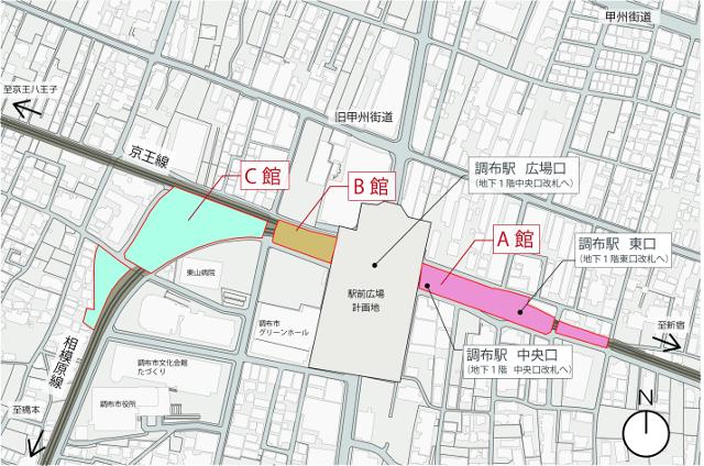 トリエ京王調布地図20170414