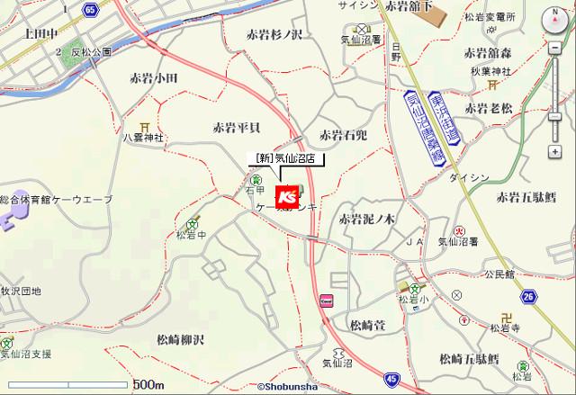 ケーズデンキ新気仙沼店地図20170415