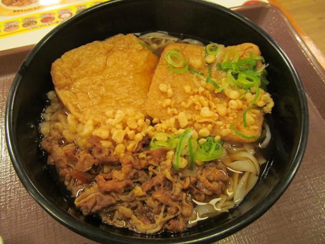 すき家ロカボ牛麺の油揚げは2枚