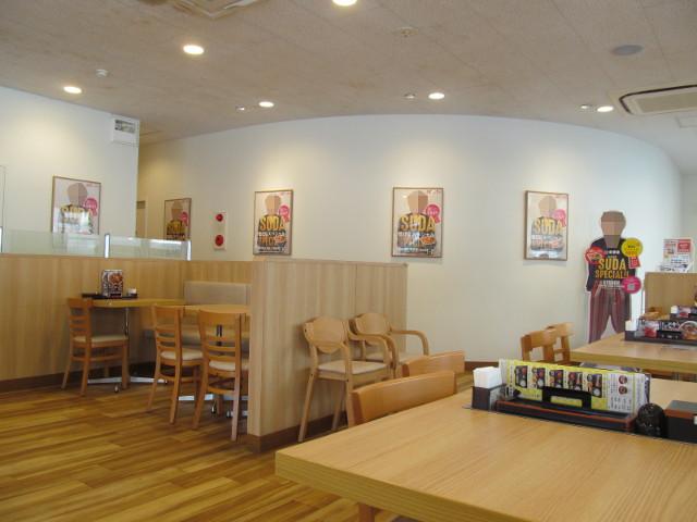 吉野家店内の菅田スペシャルポスターと立て看板