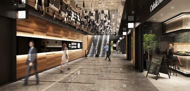日比谷パークフロント地下1階ショップレストラン完成予想図20170404