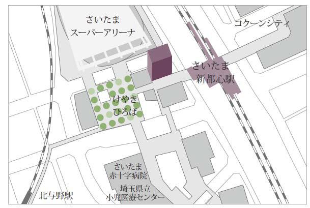 JRさいたま新都心ビル地図20170423