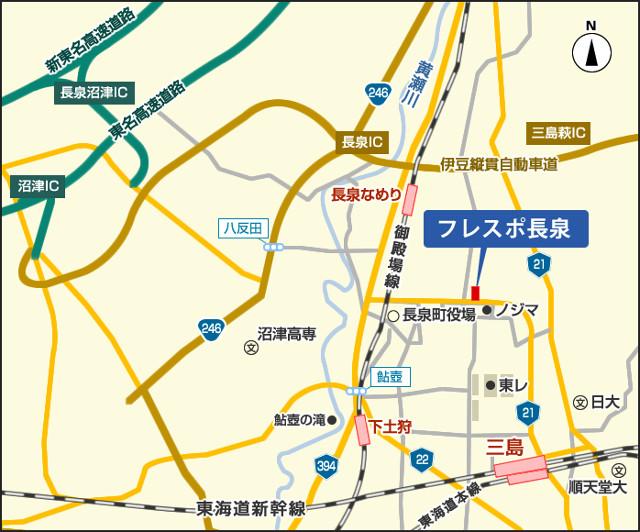 フレスポ長泉地図20170412