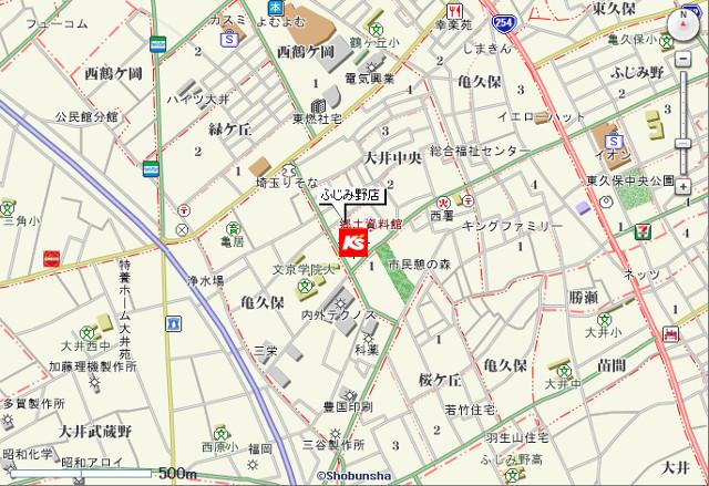 ケーズデンキふじみ野店地図20170422