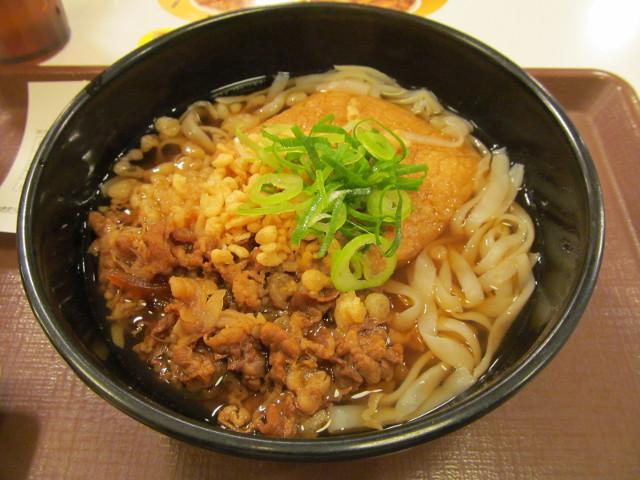 すき家ロカボ牛麺をナナメから