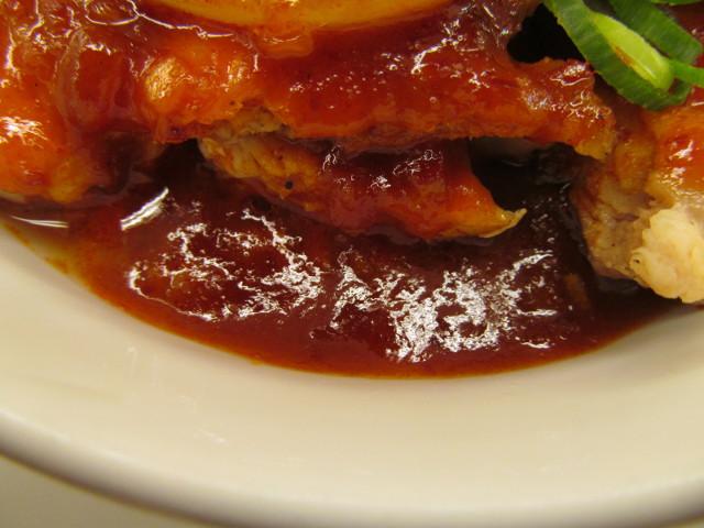 松屋鶏の甘辛味噌定食2017の甘辛味噌ダレ