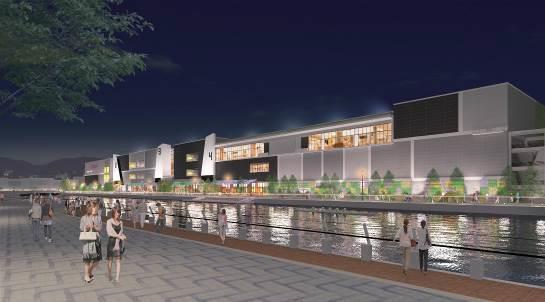 イオンモール神戸南運河対岸イメージ20170530