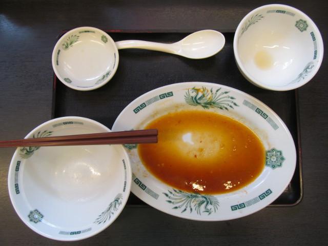 日高屋モツ野菜スタミナ炒め定食ライス大盛を完食完飲