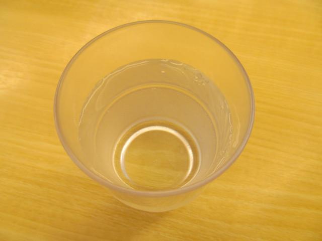 松屋の冷たい水20170606