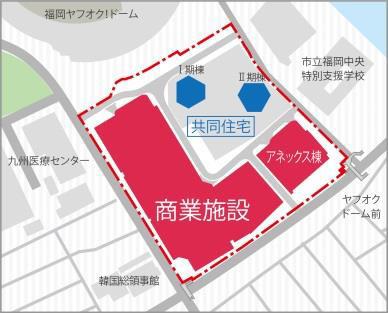 マークイズ福岡ももち建物配置図20170610