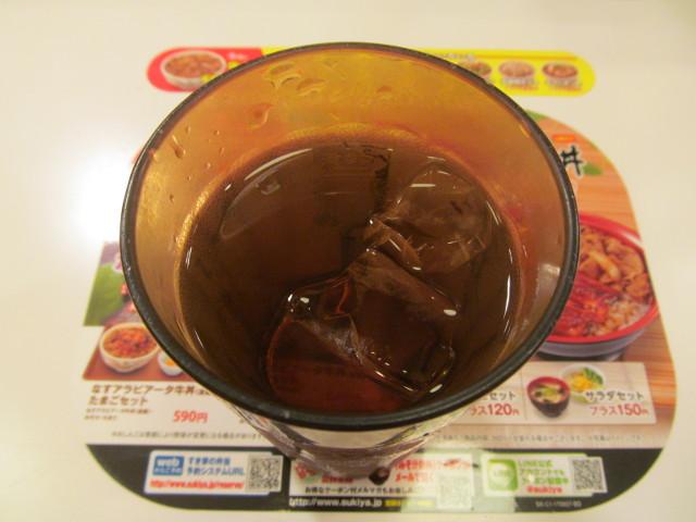 すき家の冷たいお茶20170607