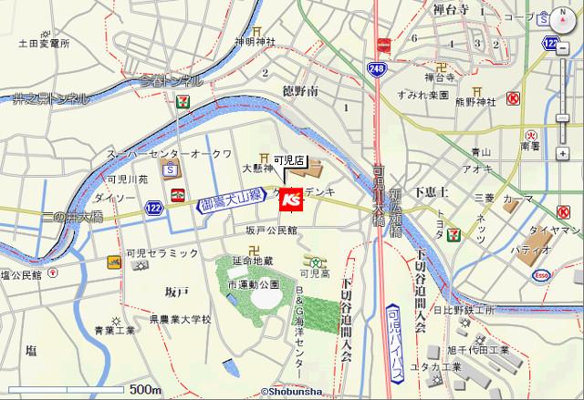 ケーズデンキ可児店地図