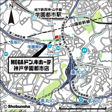 MEGAドンキホーテ神戸学園都市店地図