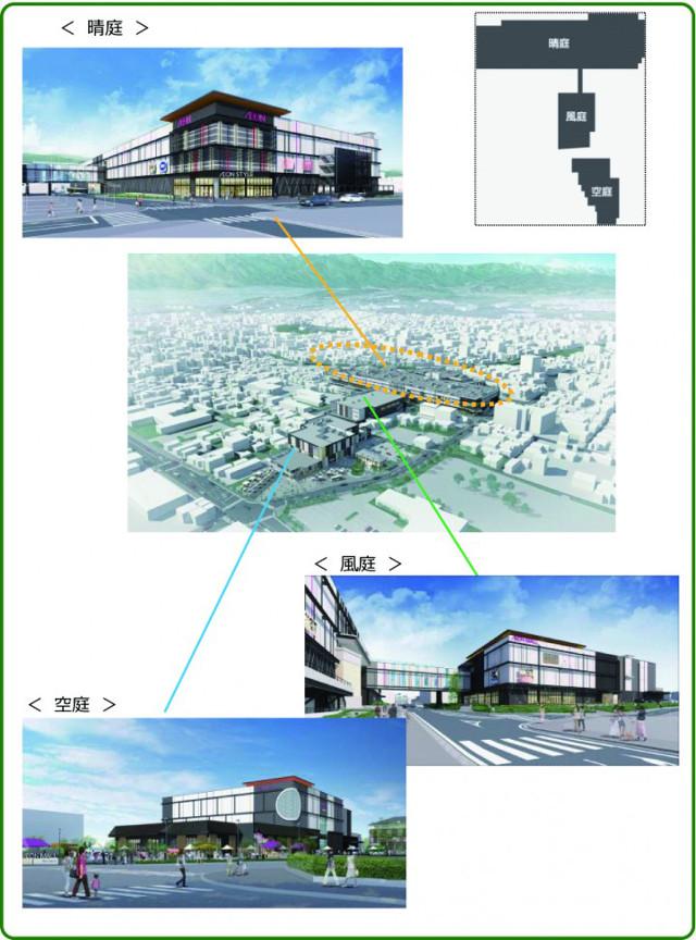 イオンモール松本建物配置説明図20170728