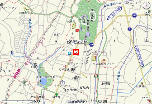 ケーズデンキ船橋夏見台店地図20170708