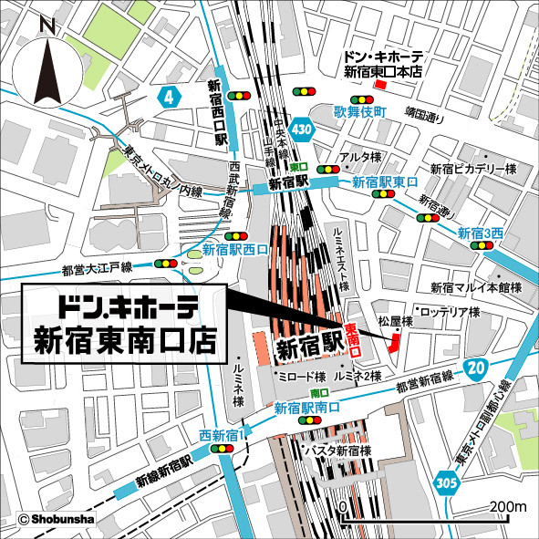 ドンキホーテ新宿東南口店地図