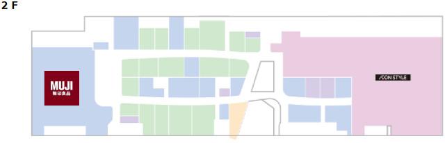 イオンモール松本晴庭2階フロアマップ20170728