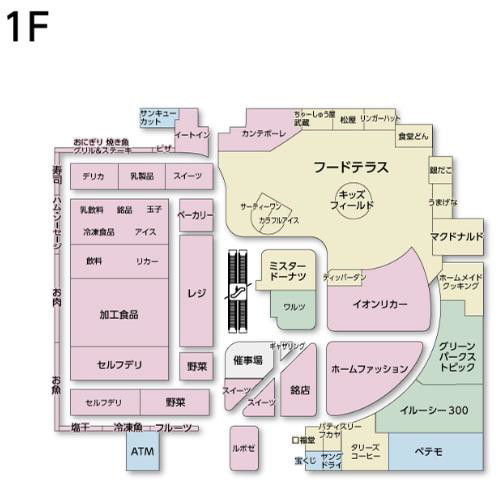 イオンスタイル豊田1階フロアマップ20170720