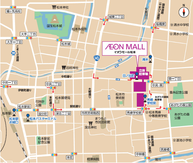イオンモール松本周辺地図20170728