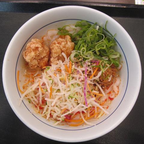 なか卯5種野菜と唐あげのロカボ担々麺賞味サムネイル