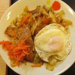 松屋肉野菜の鉄板焼き定食大盛賞味サムネイル