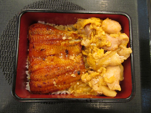 nakau_eel_and_egg_and_oyakodon_box_20170727_042