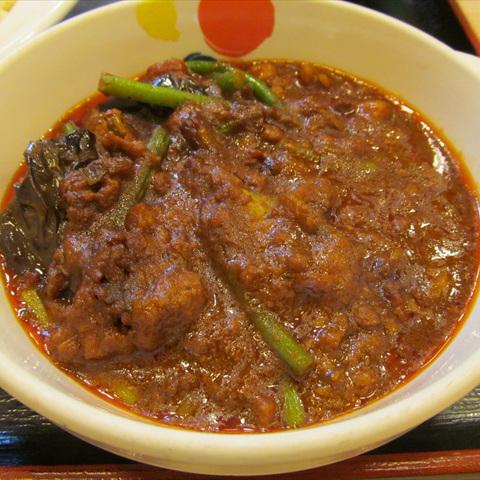 松屋粗挽き肉と茄子の麻婆カレー大盛賞味サムネイル