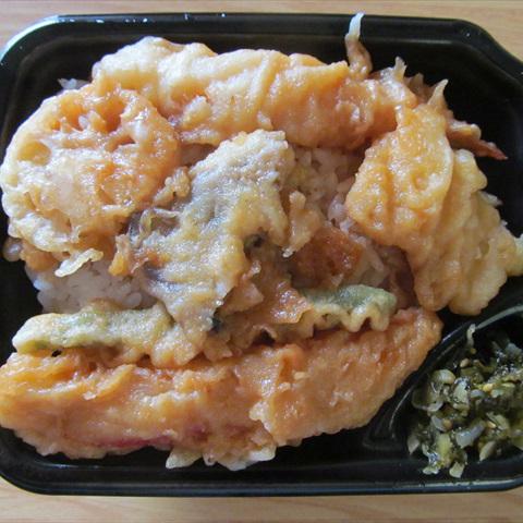 ほっともっとたれ煮天丼大盛賞味サムネイル