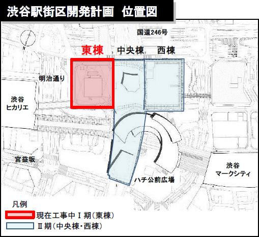 渋谷駅街区開発計画位置図20170802