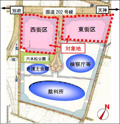 六本松421周辺の建物配置図20170803