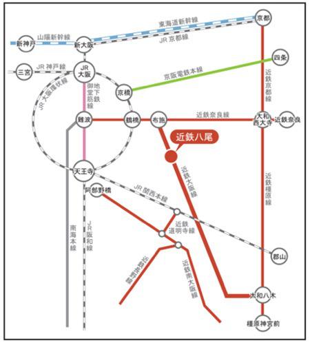 リノアスまでの路線図20170824