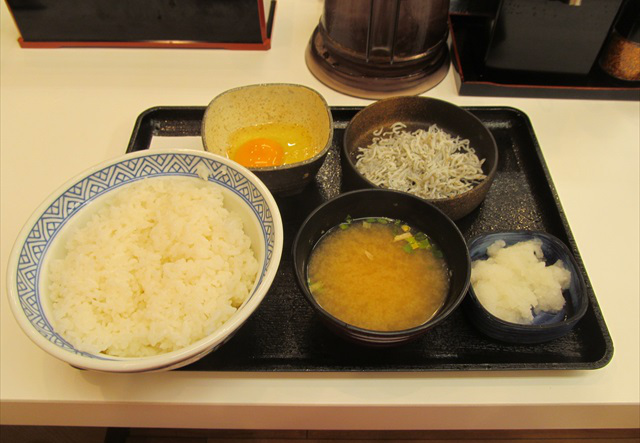 Yoshinoya kamaage shirasu oroshi set meal 20170822 006