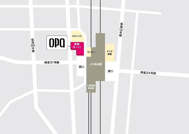 高崎オーパ周辺地図20170908