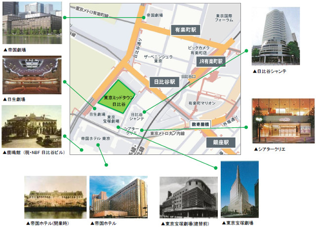 東京ミッドタウン日比谷周辺施設地図20170904