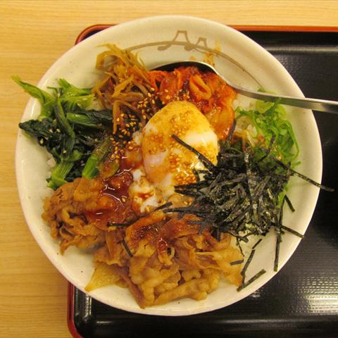 松屋ビビン丼2017年9月ver大盛賞味サムネイル