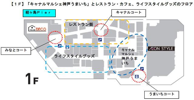 イオンモール神戸南1Fフロアマップ20170920