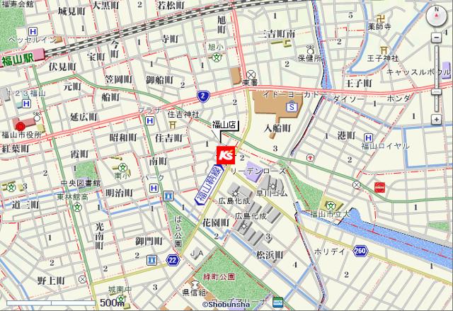 ケーズデンキ福山店地図20170916