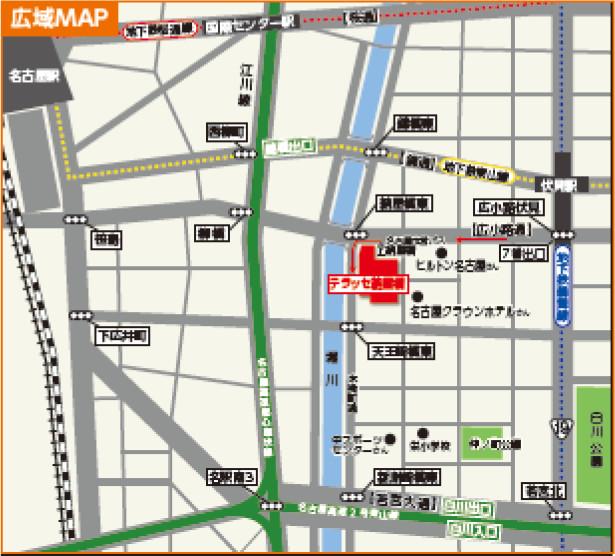 テラッセ納屋橋広域地図20170909