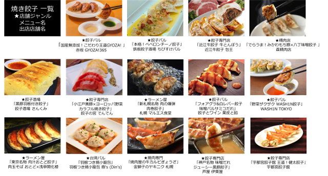 餃子フェス国営昭和記念公園2017焼き餃子一覧画像20171025