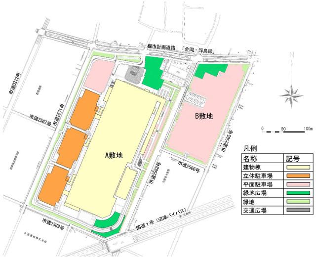 ららぽーと沼津建物配置20180614