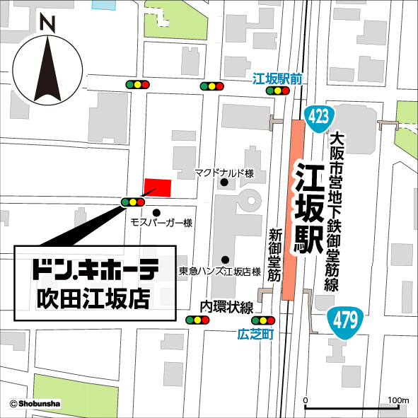 ドンキホーテ吹田江坂店地図20171123
