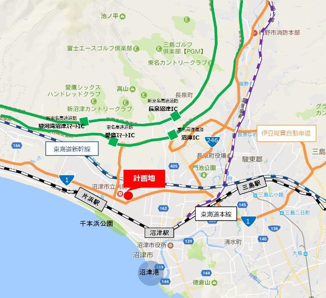 ららぽーと沼津仮称広域地図20171106