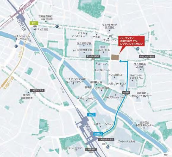 パークシティ武蔵小山ザタワーレジデンシャルサロン地図20171120