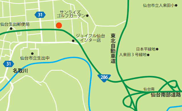 フォレストモール仙台茂庭広域地図20171115