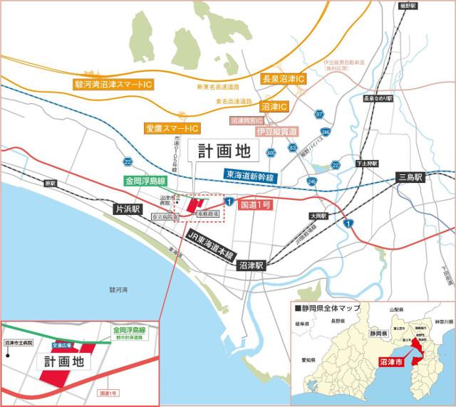 ららぽーと沼津広域地図20180614