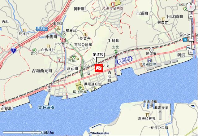 ケーズデンキ尾道店地図20171102