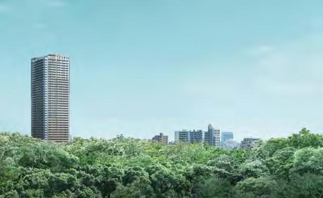 パークシティ武蔵小山ザタワー外観完成予想イメージ20171120