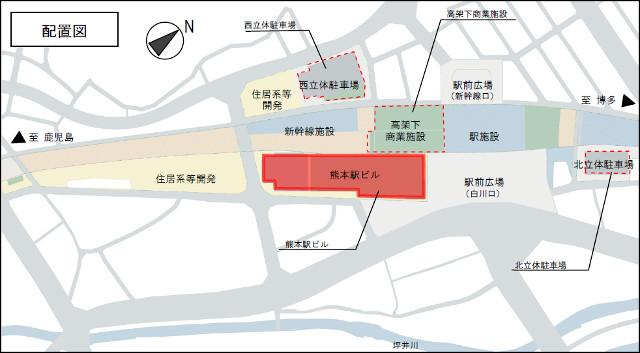 熊本駅周辺開発配置図20171108